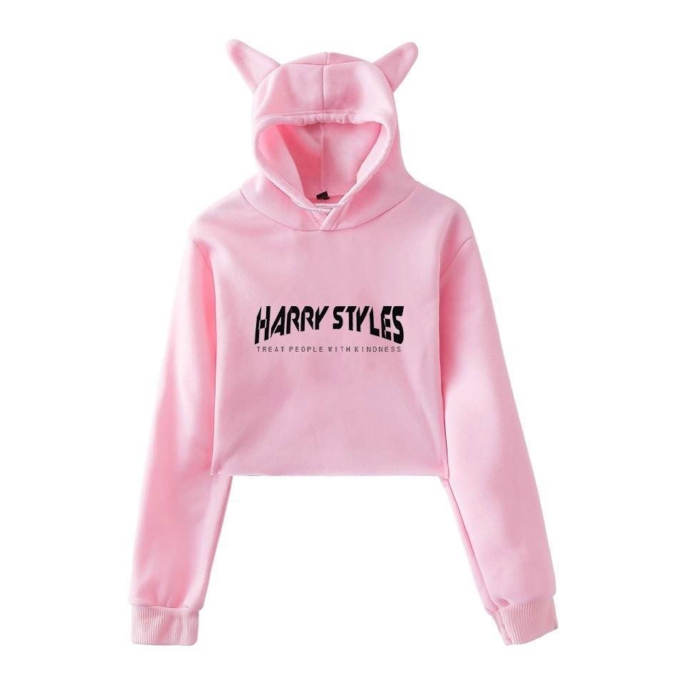 harry styles cropped hoodie